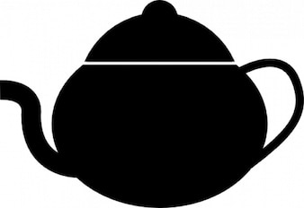 Velho bule de chá