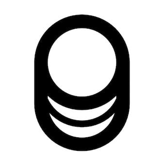 Vetor base de dados preto liso