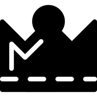 Couronne royale avec la silhouette de bout rond et détails blancs