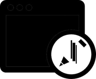 Fenêtre avec la modification de symbole