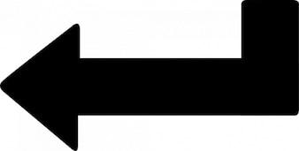 Pointe de flèche oblique à gauche