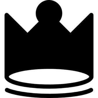 Royal silhouette de la couronne avec le bout rond central
