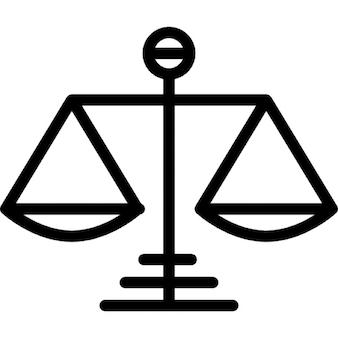 Symbole de balance de la justice