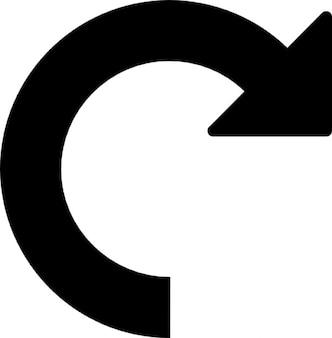 Symbole de rotation à droite