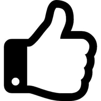 Thumbs Up contour de la main