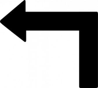Tourner, flèche gauche