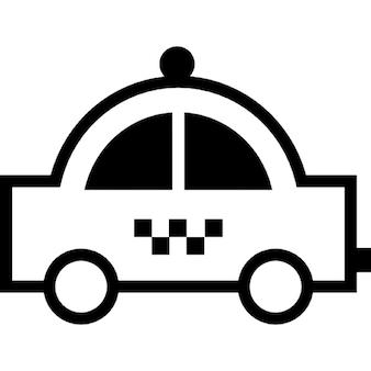 voiture noire forme arrondie vue de c t t l charger icons gratuitement. Black Bedroom Furniture Sets. Home Design Ideas