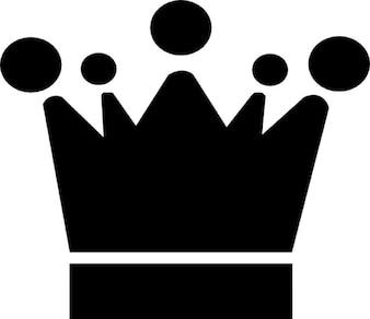 Corona con cinco puntos