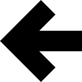 Flecha hacia la izquierda