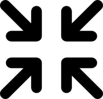Minimizar. punto al centro de flecha