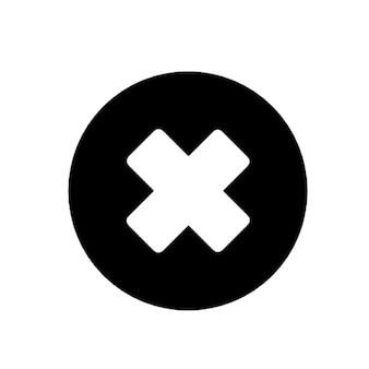 Negro cancel icon vector