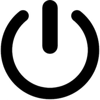 Sencillo botón de encendido / apagado