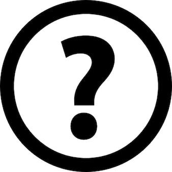 Signo de interrogación en un círculo