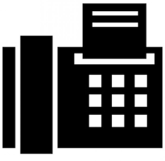 Símbolo de fax de la oficina