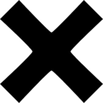 X. símbolo.   Icono Gratis