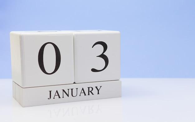 03 janvier. jour 03 du mois