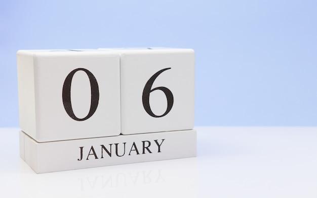 06 janvier. jour 06 du mois