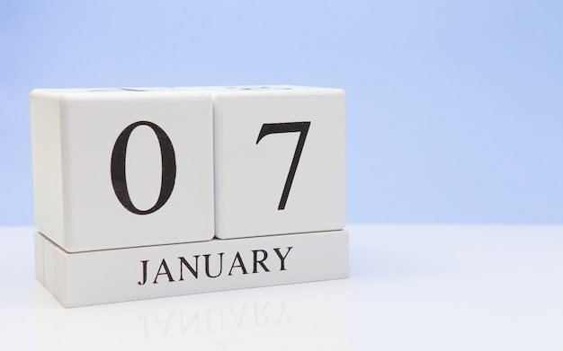 07 janvier. jour 07 du mois