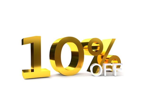 10% de réduction sur la vente. nombre d'or 3d.