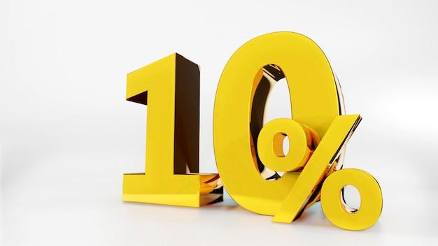 10% symbole doré