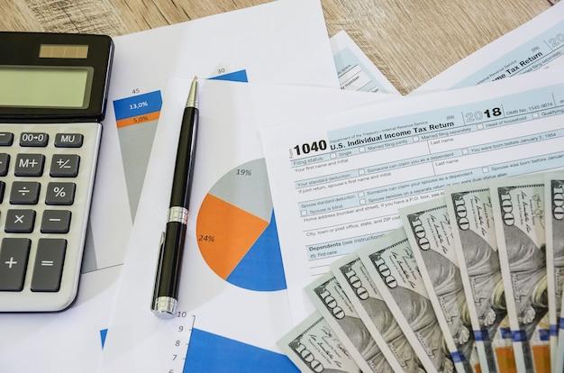 1040 formulaires fiscaux et graphiques commerciaux
