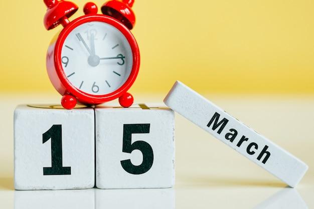 15 quinzième jour de mars sur le calendrier