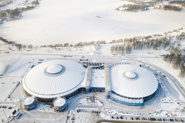 16 janvier 2021 - complexe moderne de l'institution culturelle et sportive nationale chizhovka-arena à minsk. biélorussie.