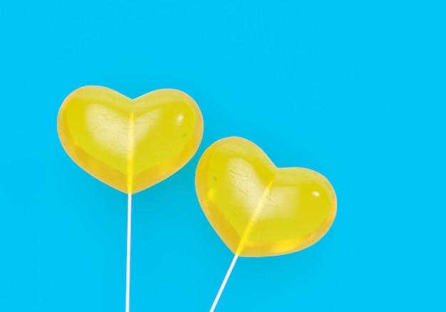 2 concept de santé et d'amour cardiaque illusration 3d. illustration de vacances saint valentin. espace copie