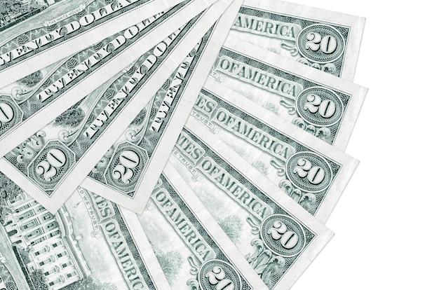 20 dollars américains factures se trouve isolé sur blanc