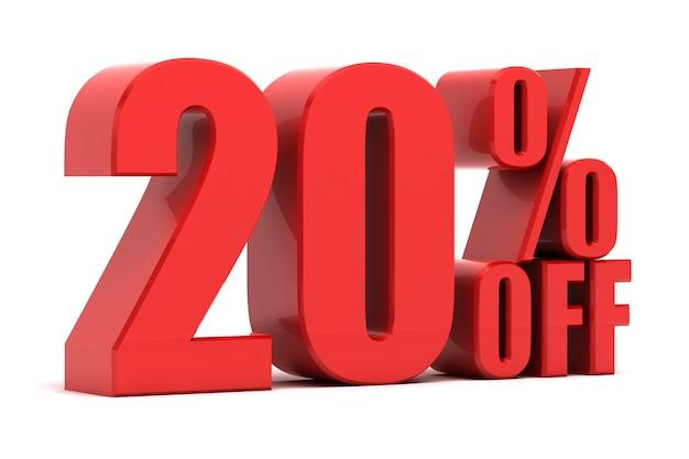 20 pour cent de réduction