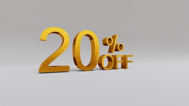 20% de réduction sur le rendu 3d