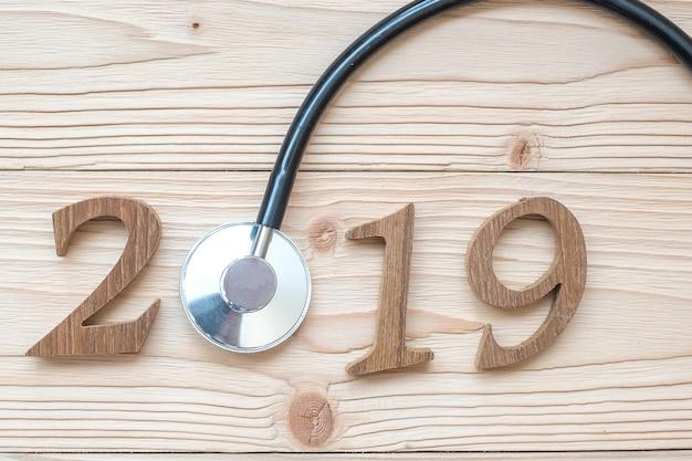 2019 bonne année pour les soins de santé, le bien-être et le concept médical