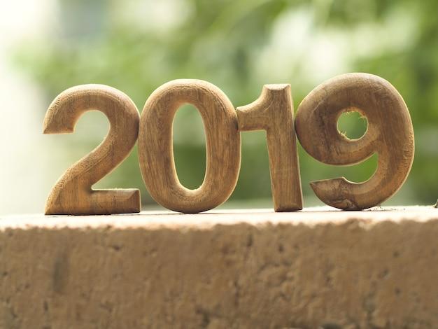 2019 numéros en bois pour votre