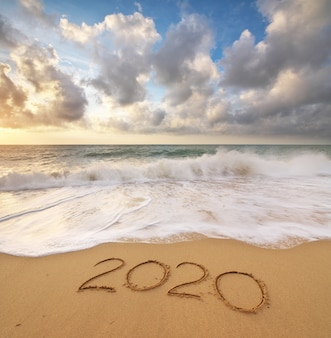 2020 année au bord de la mer