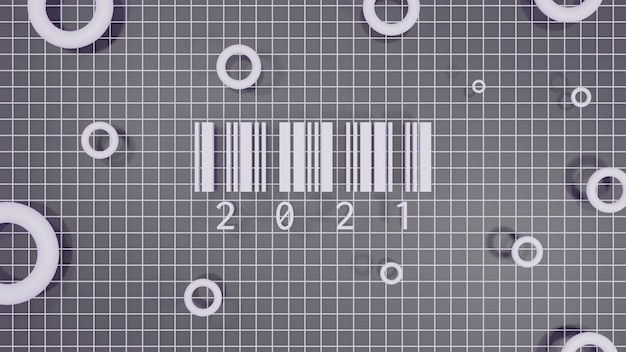 2021 bonne année illustration de rendu 3d