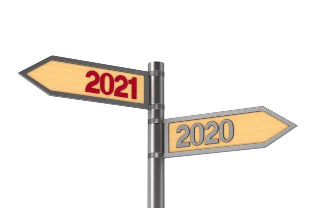2021 nouvel an. illustration 3d isolée