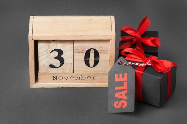 30 novembre cadeaux concept de vente cyber lundi