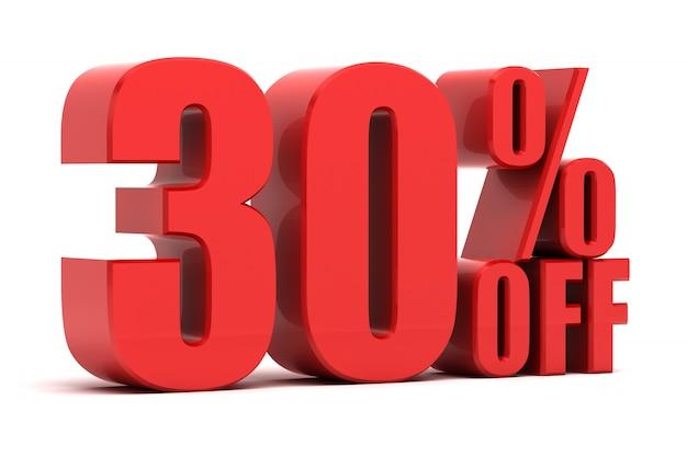30 pour cent de promotion
