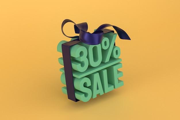 30% Vente Avec Arc Et Ruban 3d Design Sur Fond Vide Photo Premium