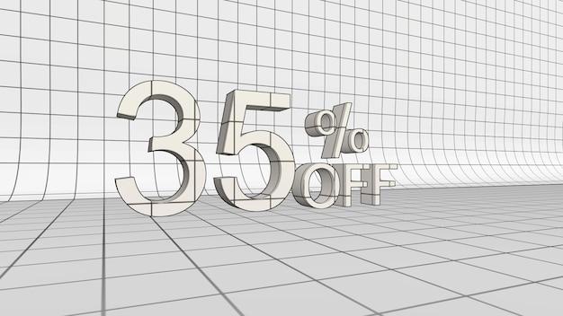 35% de réduction sur le rendu 3d