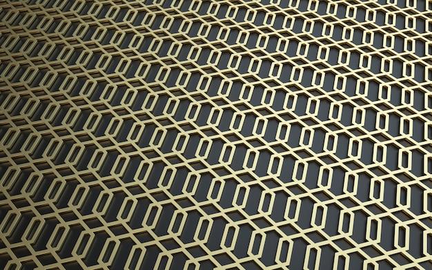 3d abstrait fond de texture en métal noir et or