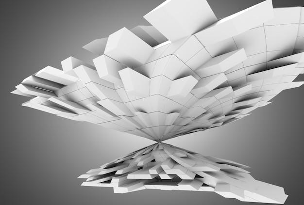 3d abstrait géométrique avec des cubes. illustration 3d