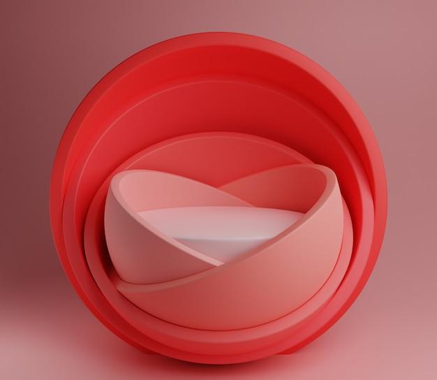 3d abstrait illustration scène maquette produit arrière-plan simple moderne pastel rose mignon