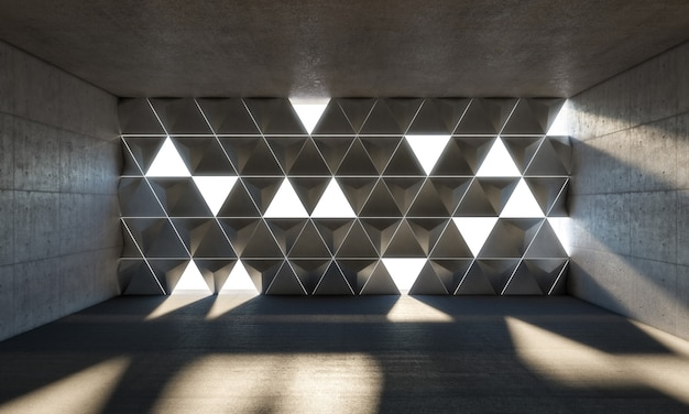 3d abstrait intérieur