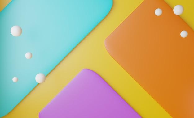 3d abstrait pastel et rendu réaliste coloré doux