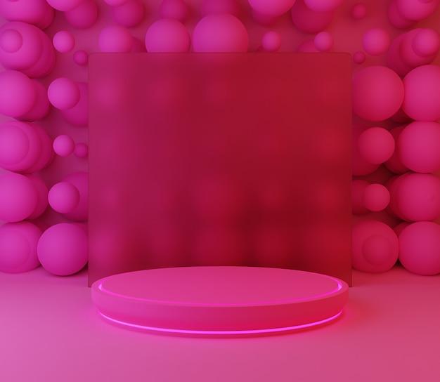 3d backgound illustration étape papier peint produit simple moderne abstrait balles rose