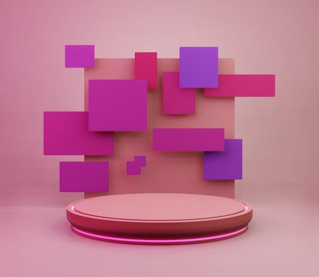 3d backgound illustration étape papier peint produit simple moderne abstrait coloré
