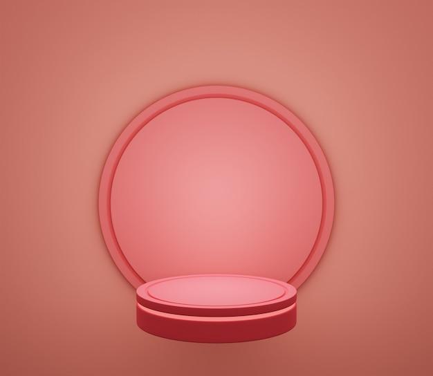 3d backgound illustration étape papier peint produit simple moderne abstrait rose chaud pastel