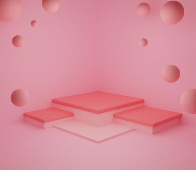 3d backgound illustration papier peint produit simple moderne abstrait coloré pastel