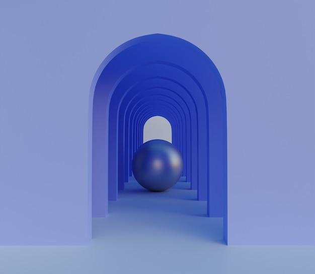 3d backgound illustration papier peint produit simples murs bleus abstraits modernes